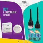 Transparent Powder Biege & Get a Free Light Roll On